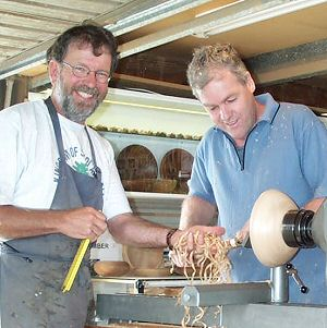 one on one wood turning and carving tuition